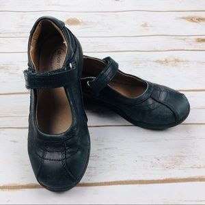 Stride Rite Black Claire Leather Mary Jane Shoes